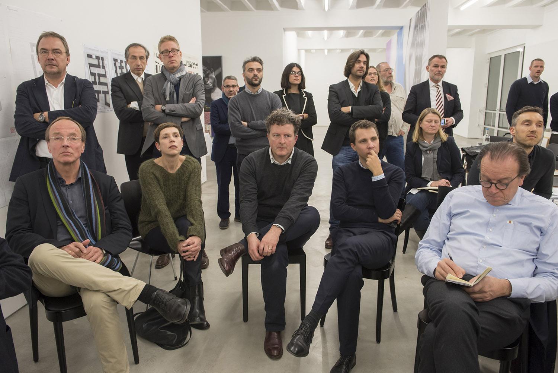 Duitsland, Deutschland, Germany, Berlin, Berlijn,  27.11.2015. Galerie Hempel, Lindenstrasse 35. 5. Konzept-Klausur WerkBundStadt Berlin.Foto: Erik-Jan Ouwerkerk
