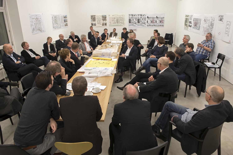 Duitsland, Deutschland, Germany, Berlin, Berlijn,  28.11.2015. Galerie Hempel, Lindenstrasse 35. 5. Konzept-Klausur WerkBundStadt Berlin.Foto: Erik-Jan Ouwerkerk