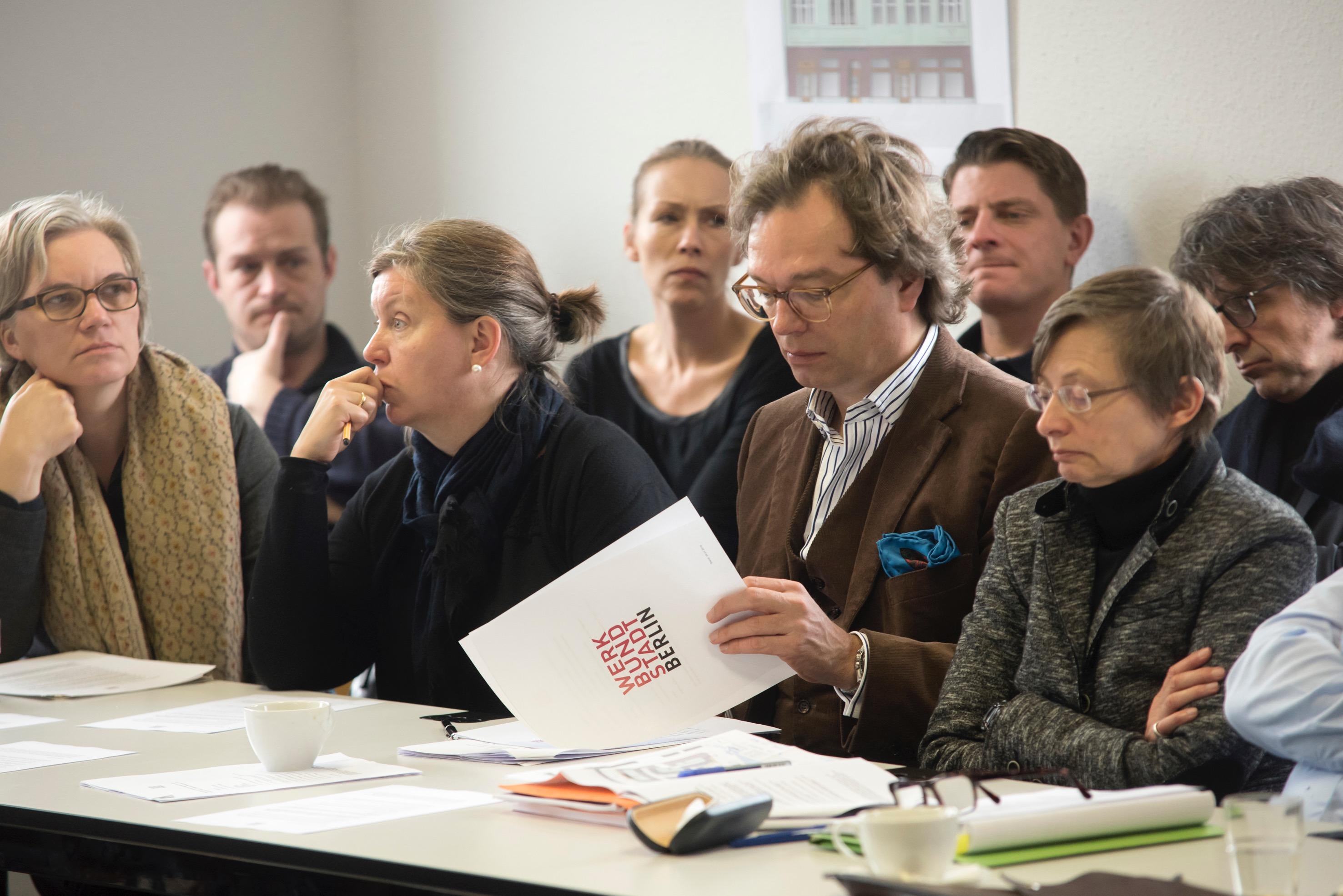 Duitsland, Deutschland, Germany, Berlin, Berlijn, 5.3.2016. Quedlinburger Strasse. Werkbund Stadt. Klausur und Auslosung der Grundstücke. Foto: Erik-Jan Ouwerkerk